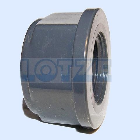 Kappe flach PVC DN 015 ½  Zoll