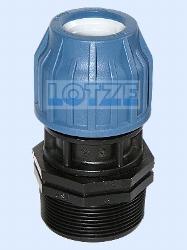 """PE-Rohr Anschlussverschraubung für Filter 2"""" und Rohr 1¼"""" (40mm)"""