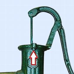Hakenschraube 10 x 35 mm zur Befestigung der Schwengelstütze