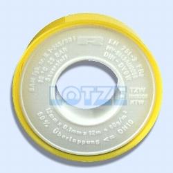 Teflonband 12x0,1mm 12 m DIN DVGW für Feingewinde