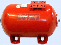 Membranbehälter VAREM liegend  60 ltr 1 Zoll Außengewinde