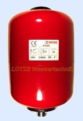 Membranbehälter VAREM zylindrisch  8 ltr lackiert 8 bar