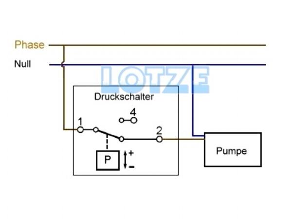 Druckschalter FF 4-32 DAH 2,0 - 32,0 bar 230 Volt/0,55 kW ...