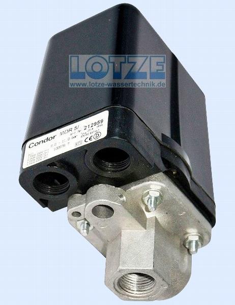 Condor Druckschalter MDR 5/ 5 400 Volt 1,5 - 5,0 bar