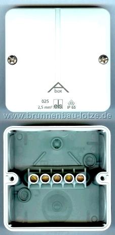 Abzweigkasten IP65 Abox 025-2.5mm² mit Klemmen
