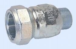 Gebo-Verschraubung verzinkt  1 Zoll AG für Stahlrohr 33,7 mm