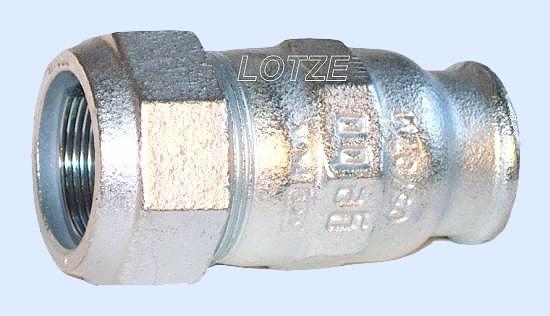 Gebo-Verschraubung verzinkt  1 Zoll IG für Stahlrohr 33,7 mm