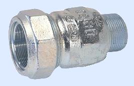 Gebo-Verschraubung verzinkt  1¼ Zoll AG fü Stahlrohr 42,4 mm