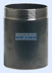 Anschweißnippel Stahl schwarz 6 Zoll x 168,3 mm,70 mm lang