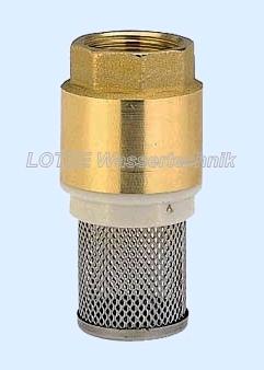 Fußventil Messing York ½ Zoll mit Saugkorb aus Edelstahl