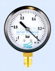 Vakuummeter -1 bar bis 0 bar 63 mm ¼ Zoll