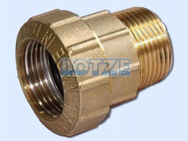 PE-Rohr Klemmverbinder Verschraubung AG Messing 63 mm 2