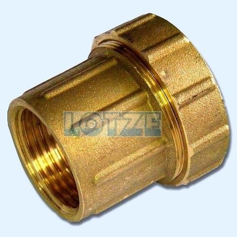 PE-Rohr Klemmverbinder Verschraubung IG Messing 63 mm 2