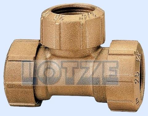 PE-Rohr Klemmverbinder T-Stück Messing egal 63 mm