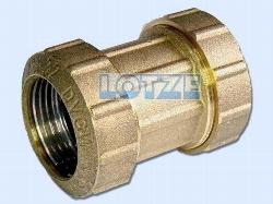 PE-Rohr Klemmverbinder Kupplung Messing 20 mm