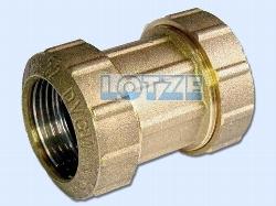 PE-Rohr Klemmverbinder Kupplung Messing 50 mm
