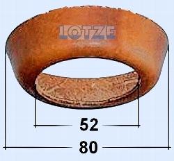 Ledermanschette   75 mm mit Loch für Pumpenkolben