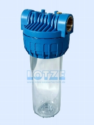 Feinfilter Pumpen Vorfilter-Gehäuse lang, Gewinde 1 Zoll, bis 7 m³/h