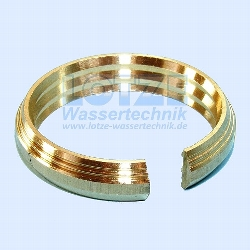 PE-Rohr Klemmverbinder Klemmring Messing 32 mm für Sabras 1 Zoll