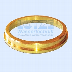 PE-Rohr Klemmverbinder Druckring Messing 32 mm für Sabras 1 Zoll