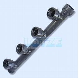 Verteiler PVC 5-fach Abgang 1 Zoll Anschlüsse