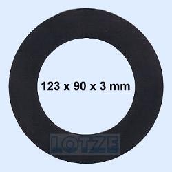 Flachdichtung Gummi EPDM DN 90 - 123 x 90 x 3 mm PN 10