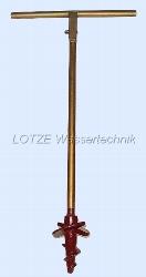 Handerdbohrer 125 mm, verzinkt 1m lang mit Griff