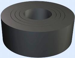 Kabelverschraubungs - Dichtring, ausschneidbar 7,5 - 15mm