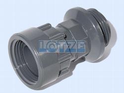 Verschraubung PVC 1 Zoll IG - AG