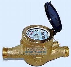 Wasserzahler Q3 4m H Zoll Dn 20 Kaltwasser Halbtrockenlaufer Hauswasserzahler Anschluss 2 X 1 Aussengewinde Lotze Wassertechnik Shop