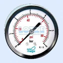 "Manometer ¼"" hinten 0 -  6 bar  63mm (axial) # 8400.06"