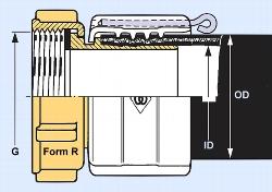 SPANNFIX- Schlauchverschraubung MX 038 1½ Zoll Form NK