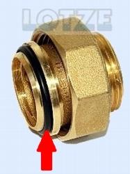 O-Ring für Verschraubung Messing 1¼ Zoll i/a konisch dichtend
