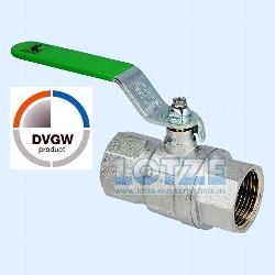 """Kugelhahn Trinkwasser i/i  ¼"""" DN  8 mit Stahl-Hebelgriff DVGW"""