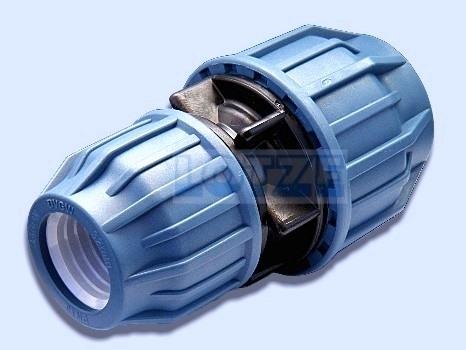 PE-Rohr Klemmverbinder Kupplung PP 63 mm x 40 mm