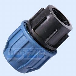 PE-Rohr Klemmverbinder PP 25 mm x 1 Zoll Innengewinde
