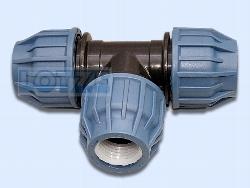 PE-Rohr Klemmverbinder PP T-Stück 90° egal 20 mm