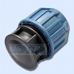 PE-Rohr Klemmverbinder PP Endstopfen Endkappe PP 25 mm