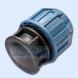 PE-Rohr Klemmverbinder PP Endstopfen Endkappe PP 40 mm