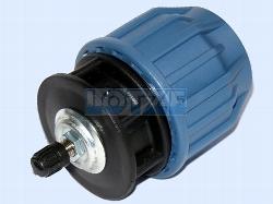 PE-Rohr Klemmverbinder PP Endstopfen Endkappe PP 25 mm mit Luftventil
