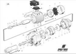 Foras Ersatzteil für Pumpe JA/CAB 200 # 4 Welle 230 Volt