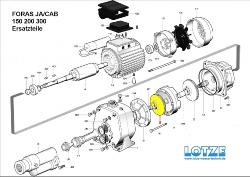 Foras Ersatzteil für Pumpe JA/CAB 200 #  5 Laufrad
